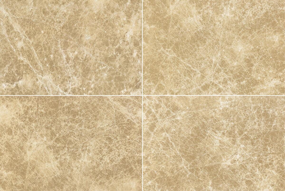 Piastrelle ceramica effetto marmo chiaro emperador gani tile