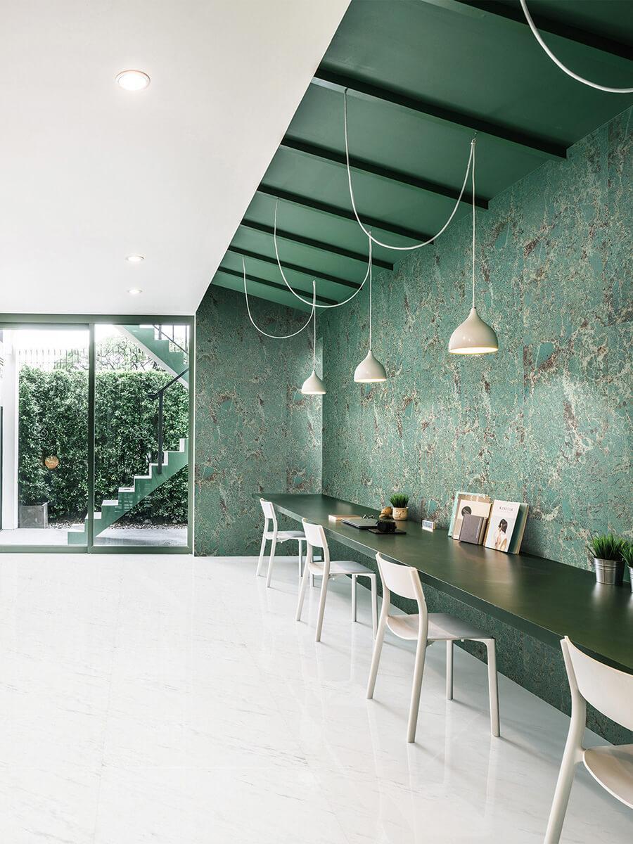 Piastrelle Ceramica Effetto Marmo Verde Amazzonico